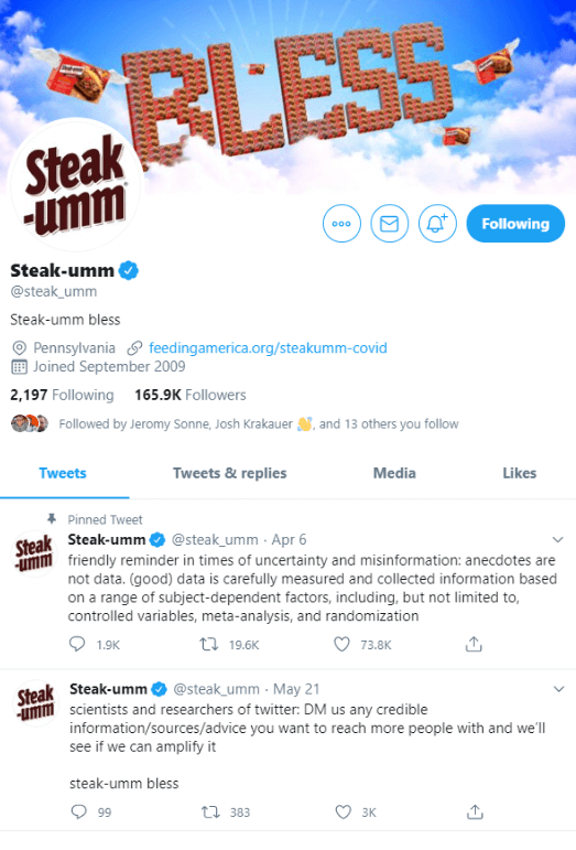 Example of a Unique Brand Voice on Twitter