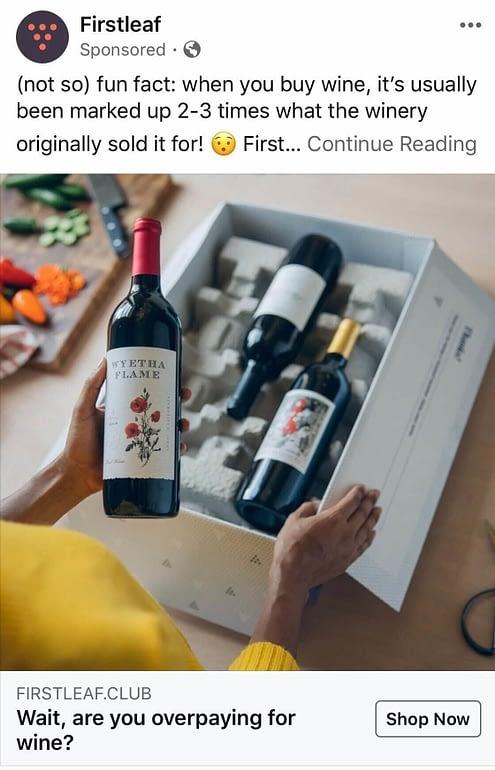 Firstleaf Facebook Ad Content