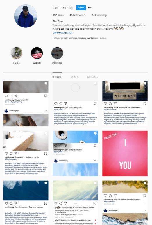 Tim Gray Instagram Content Ideas