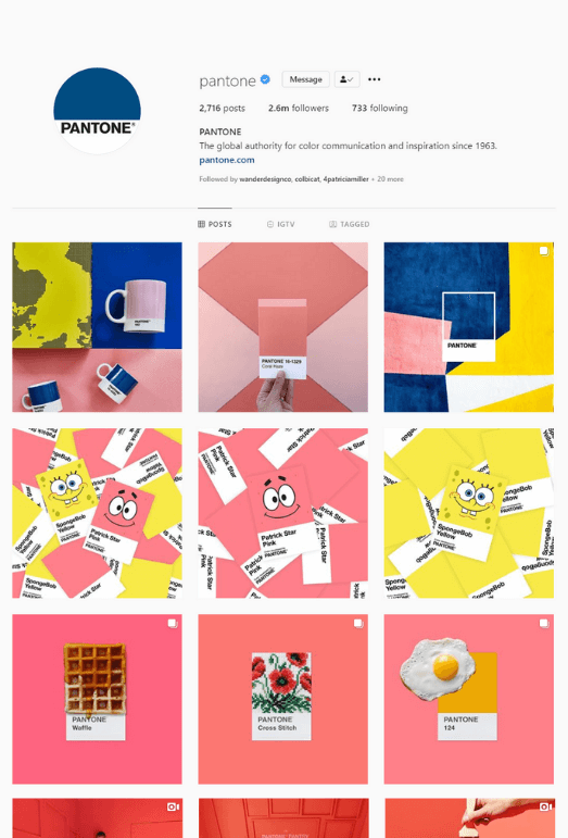 Pantone's Instragram Account and User Generated Content